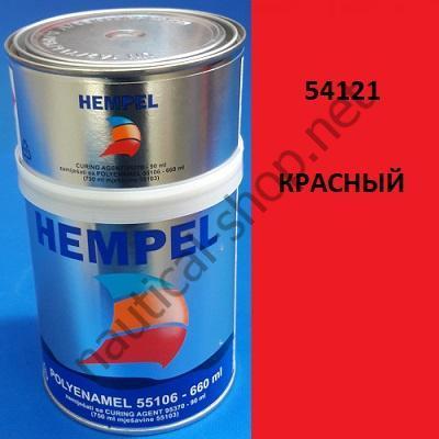 Краска полиуретановая двухкомпонентная POLY ENAMEL красный (0,75 л), 54121 Hempel