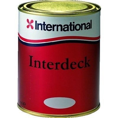 Краска нескользящая для палубы Interdeck белый 001 (0,75 л), YJB000/750ML
