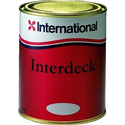Краска нескользящая для палубы Interdeck голубой 923 (0,75 л), YJB923/750ML
