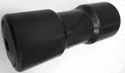 Килевой ролик 200 мм из черного ПВХ на трейлер, прицеп, Osculati 02.029.01