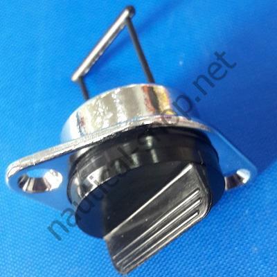 Пробка дренажная врезная хромированная диаметром 25 мм, 18.538.01