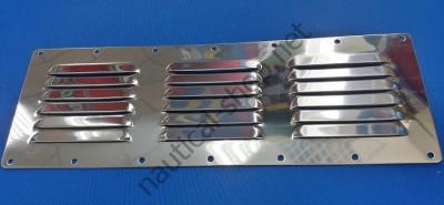 Вентиляционная нержавеющая решетка 116х340 мм, 53.021.00
