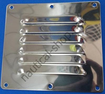 Вентиляционная нержавеющая решетка 115х127 мм, 53.021.01