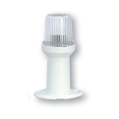 Клотиковый фонарь на ножке 15 см белый, 30183
