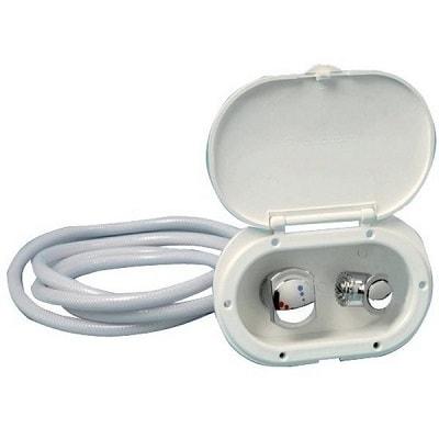 Душевая ниша Oval со смесителем и кнопочным душем Mizar, 15.240.01