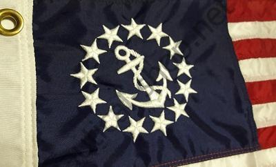 """Флаг США """"U.S. Yacht Ensign"""" 30х45 см, вышивка якорь, 8118"""