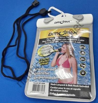 Водонепроницаемый чехол DRY PAK для больших смартфонов, GPS, MP3 и многого другого 12х15 см, DP-56W