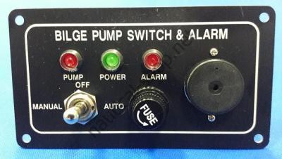 Панель управления трюмной помпой со световой и звуковой сигнализацией, 16.605.00