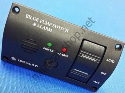 Панель управления трюмной помпой со световой и звуковой сигнализацией, 16.608.12