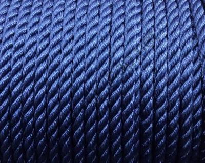 Канат трехпрядный полиэфирный 10 мм, темно синий, 06.453.10