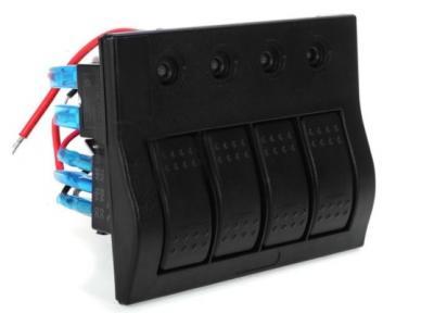 Щиток электрический для лодок, катеров с 4 клавишными выключателями и автоматическими предохранителями, 50743-4
