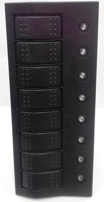 Щиток водонепроницаемый электрический на 8 клавишных выключателей с автоматическими предохранителями, 50743-8