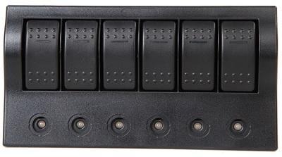 Щиток электрический на 6 клавишных выключателей с автоматическими предохранителями, 50743-6
