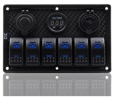 Высококачественная водонепроницаемая панель управления на 6 клавишных выключателей Marina-R
