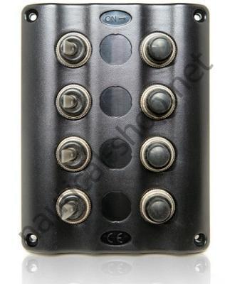 Панель управления Splash с красной LED подсветкой на 4 тумблера, 50770-4