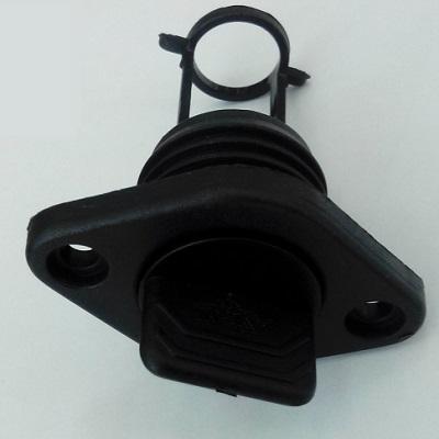 Пробка дренажная врезная, черная, 25 мм, 20328-1