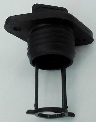 Пробка дренажная врезного типа, черная, 25 мм, 20328-1