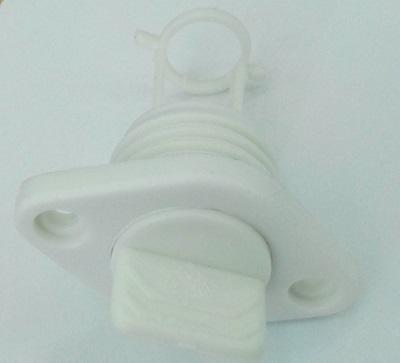 Пробка дренажная врезная, белая, 25 мм, 20328-2