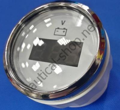 Вольтметр цифровой белый, 8-32 В, 27.322.40