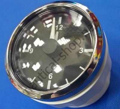 Кварцевые часы с черным циферблатом и метрической 12 часовой шкалой, 27.321.27