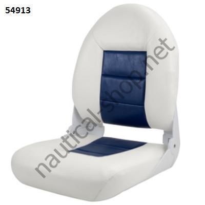 Сиденье складное лодочное Tempress Navistyle High-Back_бело-синего цвета
