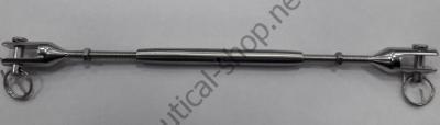 Талреп из нержавеющей стали с двумя неподвижными вилками 10 мм, 07.197.10