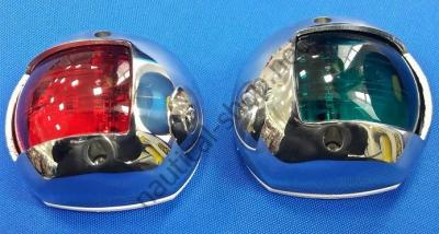 Навигационные огни Compact Sphera вертикального крепления, нержавеющий, 11.406.01/02
