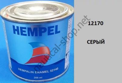 Краска алкидная Hempalin Enamel серый (0,2 л), 12170