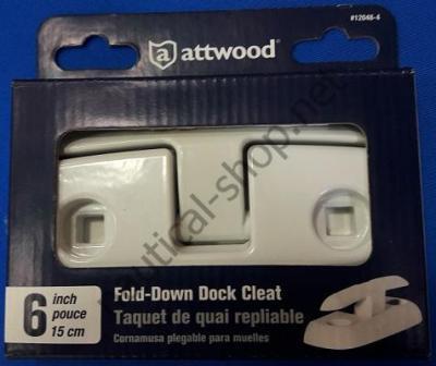 Складная утка накладного монтажа 150 мм, в упаковке, Attwood 12048-4