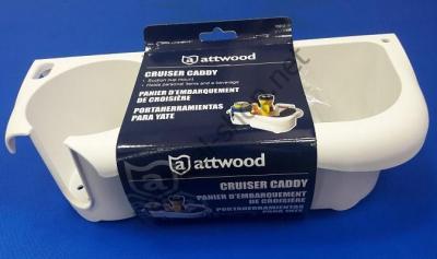 Лоток для хранения рыболовных вещей с подстаканником Cruiser Caddy, 295х130х85 мм, в упаковке, Attwood 11851-2