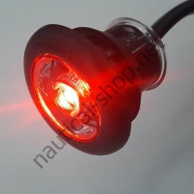 Светодиодный 12 В точечный светильник в резиновом корпусе, красный свет, 6318-1 Attwood