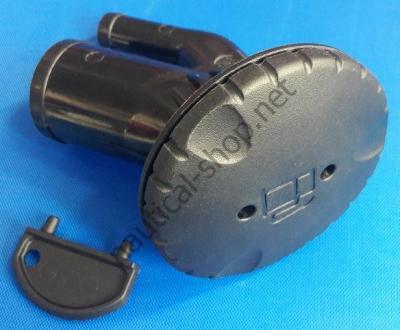 """Горловина топливная угловая, пластиковая черная, вентилируемая, """"бензин"""" с ключом, 99201GB1 Attwood"""