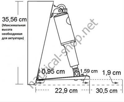 Схема установки электрических трим пластин для лодок от 6,5 до 9 м, 15002-101 Lenco
