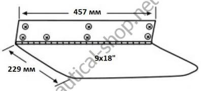 Габариты электрических трим пластин для лодок от 6,5 до 9 м, 15002-101 Lenco