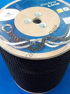 Бухта каната трехпрядного диаметром 16 мм, черный цвет, 06.450.16 Osculati