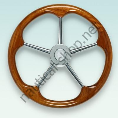 Рулевое колесо V72 с ободом из тикового дерева, 450 мм, 41113W, Ultraflex (Италия)