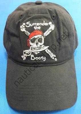 Пиратская бейсболка Pirate Surrender the Booty, черного цвета, 1810 Taylor Made