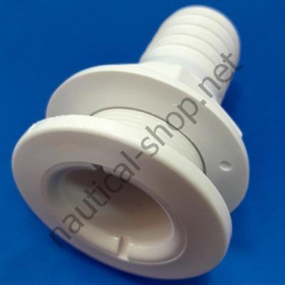 """Штуцер слива диаметром 1-1/2"""" (38 мм) белый термопластик, 20304-51 Attwood"""