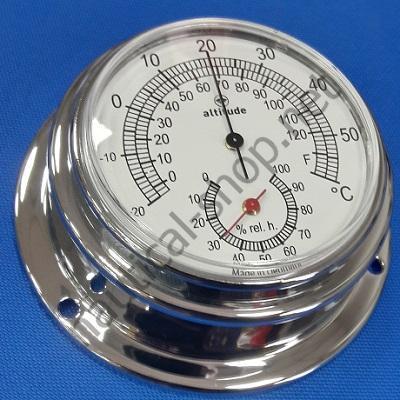 Термометр/Гигрометр в корпусе из хромированной латуни, 96 мм, 2152.С Altitude