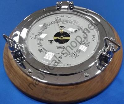 Барометр в виде иллюминатора на деревянной основе, 230 мм диаметр, 2088.C.TK, Foresti Suardi