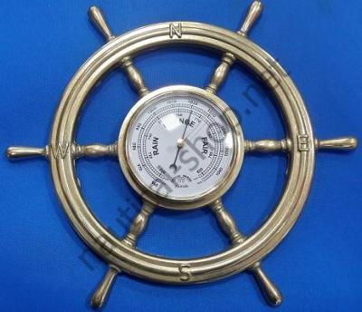 Барометр в латунном штурвале, 320 мм, 2244.L, Foresti Suardi