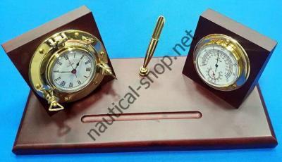 Настольный набор с часами и барометром, 2100.L, Foresti Suardi