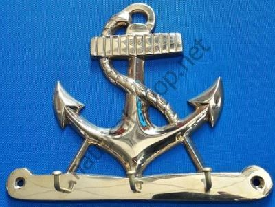 Ключница латунная в виде якоря, DECO186, AZUR MARINE