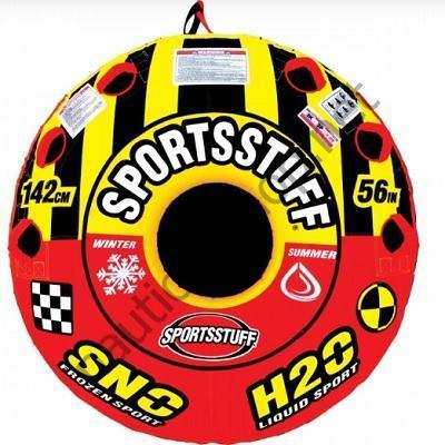 Надувная двухместная плюшка-таблетка Super Crossover 2 в 1 для катания зимой и летом, 30-3522 Sportsstuff