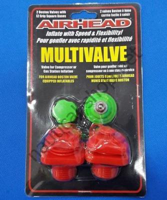 Клапан типа Multivalve с переходником под автомобильный компрессор (пара), в упаковке, AHMV-1 Airhead