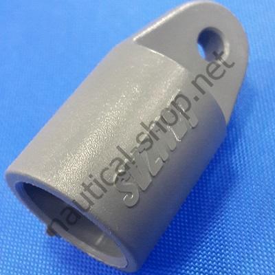 Концевое тентовое соединение для трубы 22 мм из серого полиамида, 00837 Lalizas (Греция)
