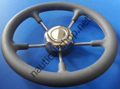 Лодочное рулевое колесо нержавеющее пятиспицевое серый цвет, 350 мм, 45.131.35 Osculati (Италия)