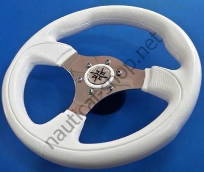 Лодочное рулевое колесо Tender, 280 мм, белый цвет, безупречный вид, 45.138.03 Osculati (Италия)