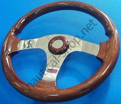 Рулевое лодочное колесо из красного дерева, покрытого полиуретановым лаком, 350 мм, 45.160.00 Osculati (Италия)