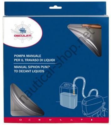 Ручной насос для переливания любых жидкостей, 10 л/мин, в упаковке, 52.739.00 Osculati (Италия)